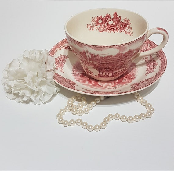 Pink Old Britain Castles Large Teacup Teacup Planter Etsy