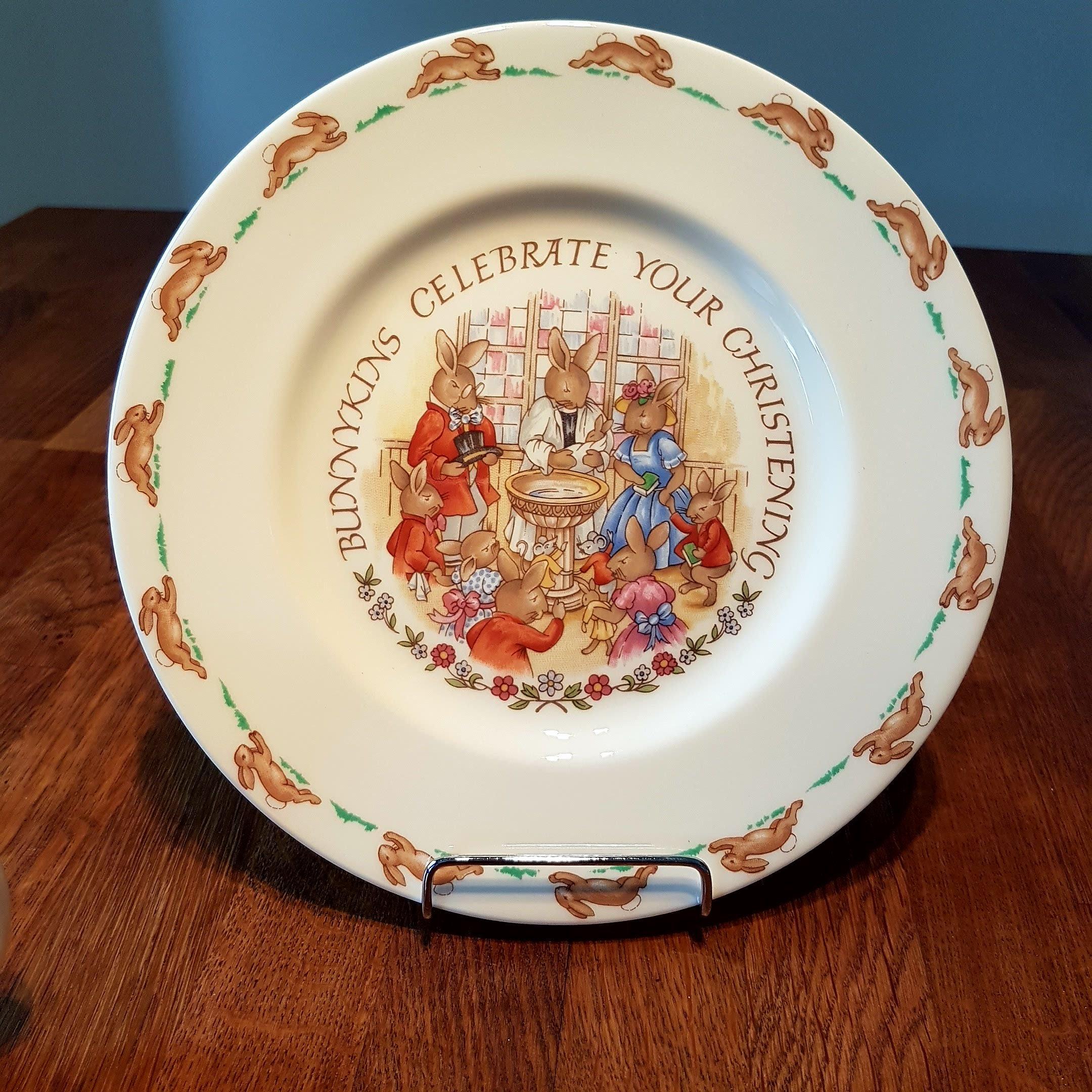 Royal Doulton Bunnykins Christening / Mug and Plate Set in
