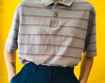 80s striped polo | Etsy