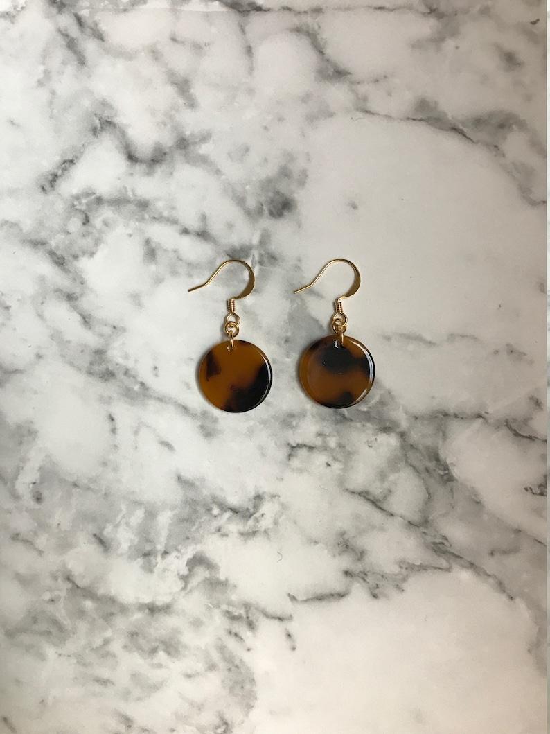 Tortoise shell Earrings image 0