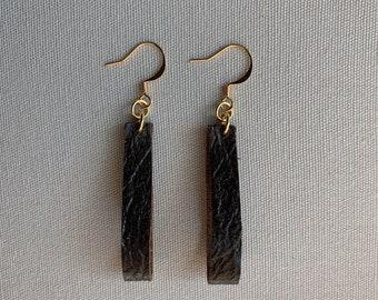 Brown Leather Earrings