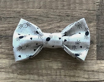 01205caff25a Halloween Bow Tie, Spider Bow Tie, Dog bow tie, Cat Bowtie, Pet Bowtie,  Spiders, Spider Doodle, White, Black