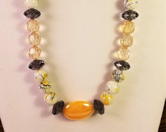 Lemon Abstract Necklace