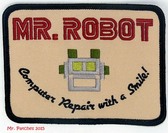 MR. ROBOT embroidered patch