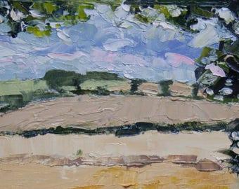 Veiny Cheese Pond - Original en plein air Oil Painting