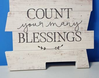 Count Your Blessings Pallet Puzzle