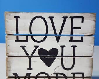 Love You More Mini Slotted Board