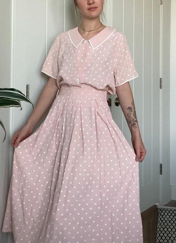 Pink polka dot set