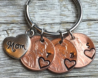Personalized Mom Keychain Gift Birthday Penny Customized Valentine For Her Gifts