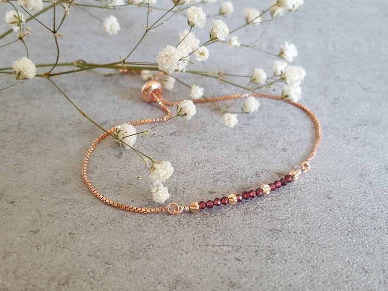 mindfulness gift bolo bracelet Blood Ruby bracelet ruby anniversary gift July Birthstone
