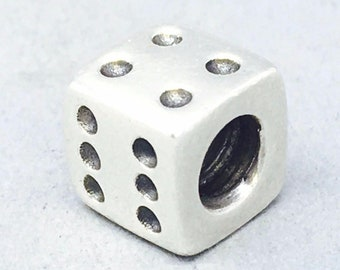 df9c06aff ON SALE 10-25% OFF Authentic Pandora Sterling Silver Lucky Dice Charm Bead  #790116 Retired and Rare