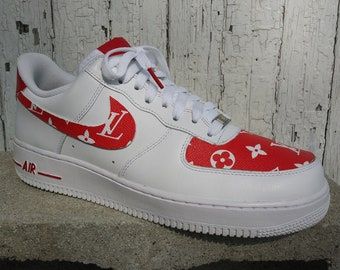 956d18815d Nike Air Force 1 LV Red Custom Designed Premium Designer Edition Avail. in  all sizes