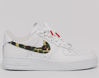 1ca3dd392299 Nike Air Force 1 Bape camo Swooshes Custom Premium Designer Edition (all  sizes available)