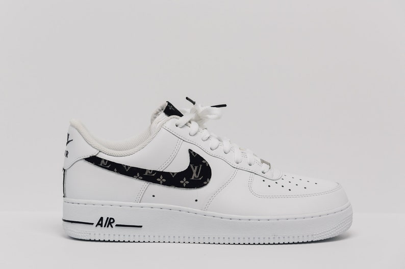 3a222476c83887 Nike Air Force 1 Custom Made LV Silk Premium Designer Edition