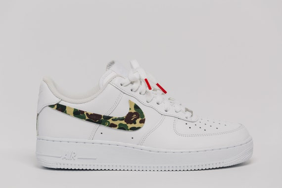 ed657b6f8ee3 Nike Air Force 1 Bape camo Swooshes Custom Premium Designer