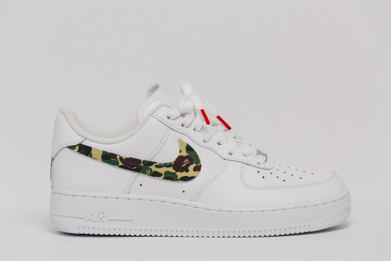 Nike Air Force 1 Bape camo Swooshes Custom Premium Designer Edition (all sizes available)