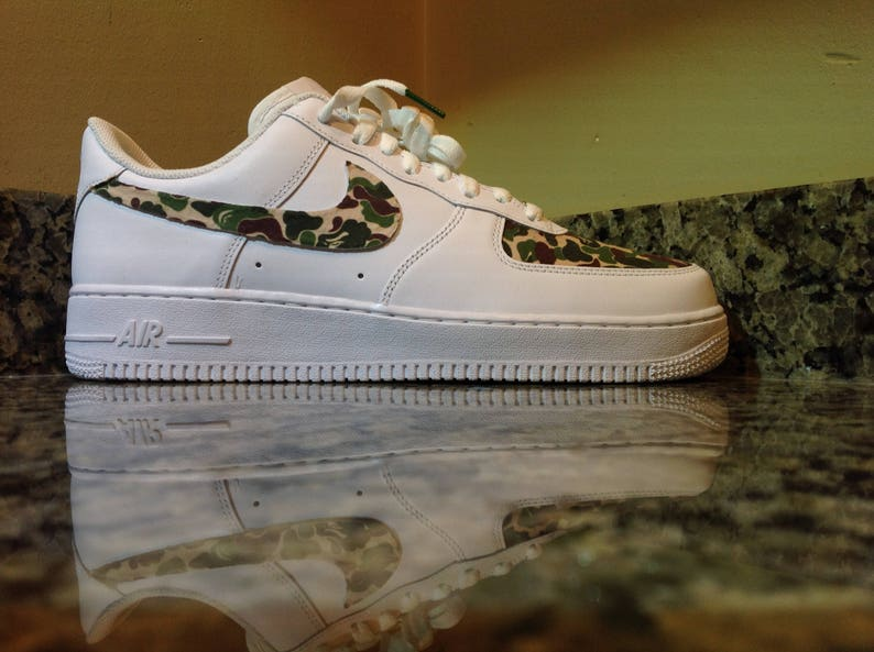 e5bfbef78721 Nike Air Force 1 A Bathing Ape  Custom Designed and