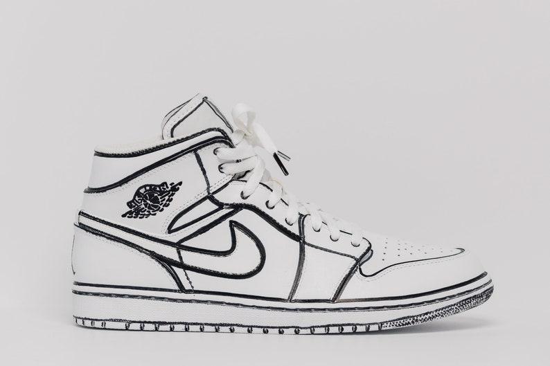 Nike Air Jordan 1 Outlined Custom Edition all sizes  3459d93c15