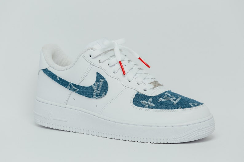 brand new 99033 d08d8 Nike Air Force 1 LV Supreme Denim Custom Designed Premium  E