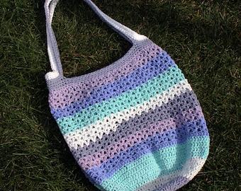 Speedy V-Stitch Market Bag | Crochet Market Bag | Crochet Bag | Easy Crochet Bag | Crochet Tote Bag | Crochet Bag Pattern