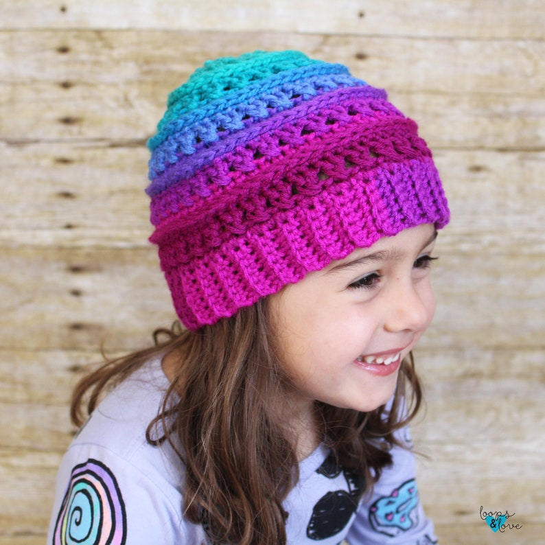 Pattern Bundle Crochet Hat Crochet Beanie Criss Cross Beanie Bundle Crochet Messy Bun Beanie