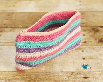 Zipper Pouch Crochet Pattern|Crochet Bag|Crochet Zipper Bag| Crochet Bag Pattern