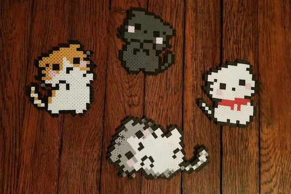 Chibi Kitten Pixel Art Magnet Cute Kitten Pixel Art Magnet Cat Pixel Art Magnet Chkpm