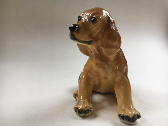 Vintage Original Mortens Studio Cocker Spaniel Puppy Figurine in Excellent Condition  Collectible Item  Dog Lover Gift  Ceramic Figurine