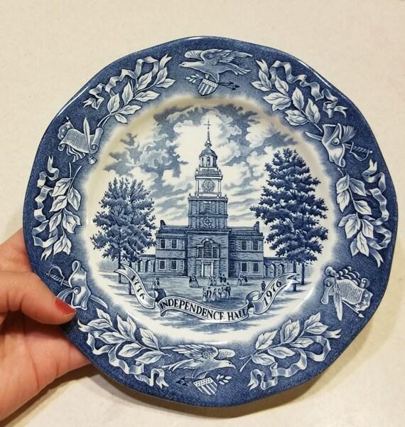 Vintage Bicentennial Plate by Avon