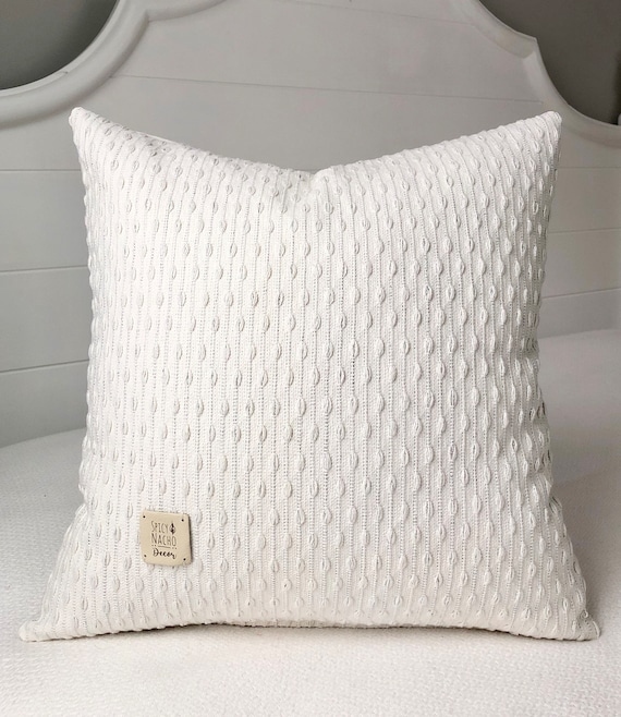Cream Pillow Covers 18 X 18 Pillow Covercream And Sparkly Etsy