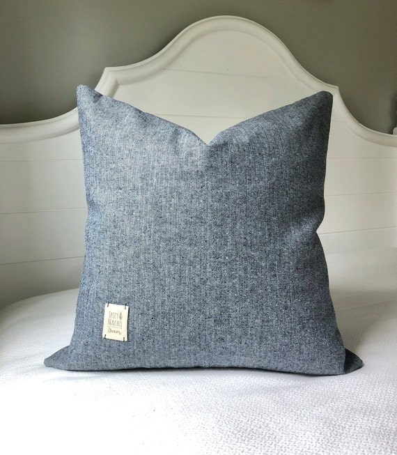 Throw Pillows 40x40 Pillow Cover Denim Pillow Cover Navy Blue Etsy Impressive Etsy Pillow Covers 20x20