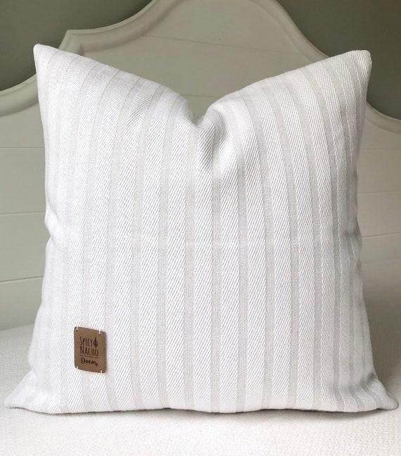 Throw Pillow Covers 20x20 Pillow Coverlight Gray White Stripe Etsy