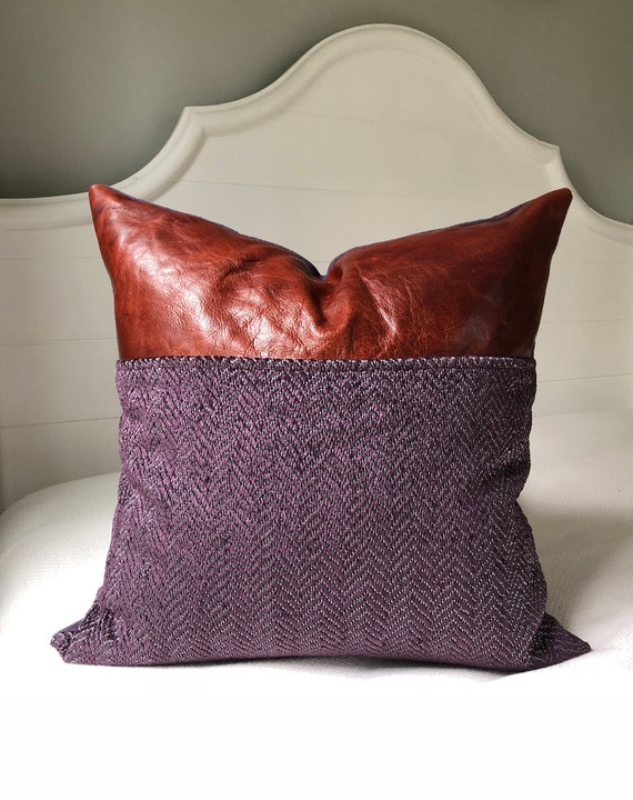 40x40 Leather Pillow Covers 40x40 Pillow Cover Leather Cushion Etsy Cool Etsy Pillow Covers 20x20