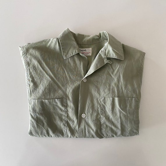 1960s Truval Loop Collar Button Up