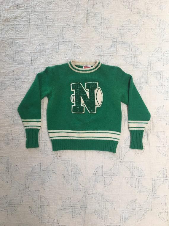 1960s Varsity Cheerleader  Pullover Sweater