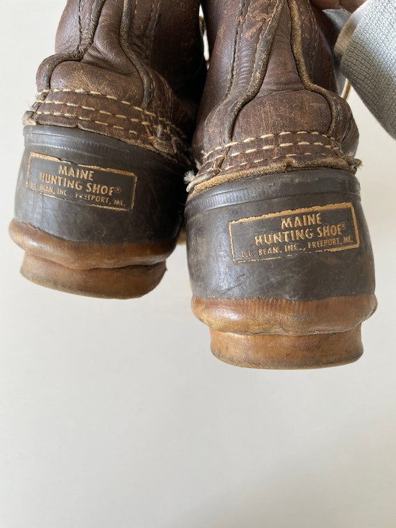 1990s LL Bean Leather Duck Hunting Boots