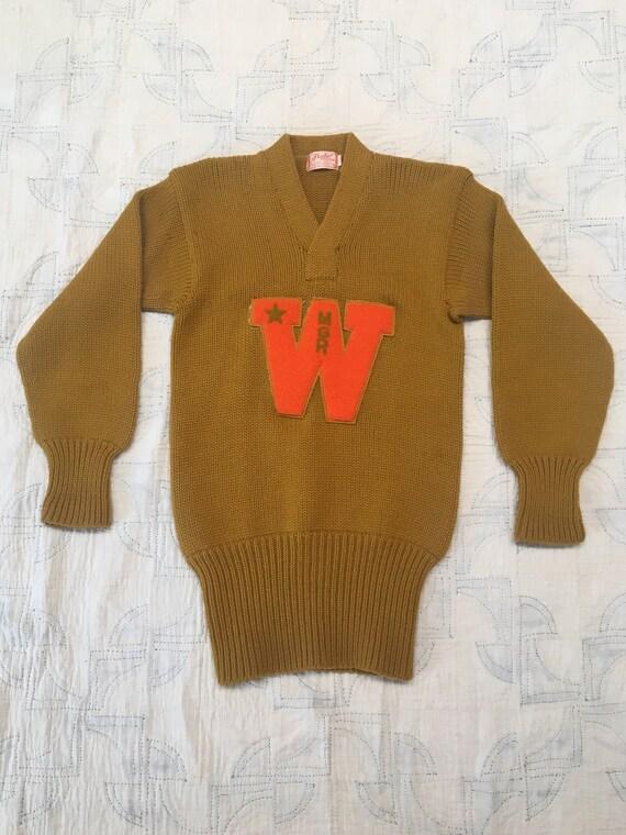 1950s Wool Varsity Sweater