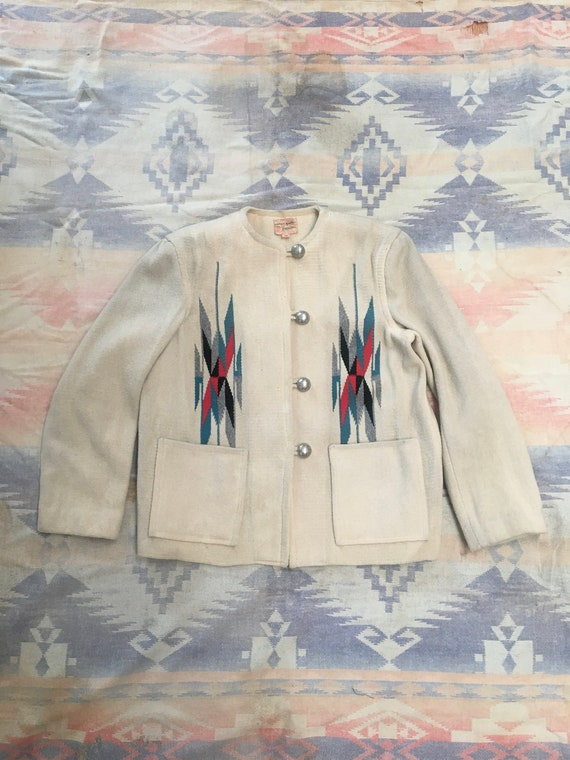 1950s Heirloom Chimayo Blanket Jacket