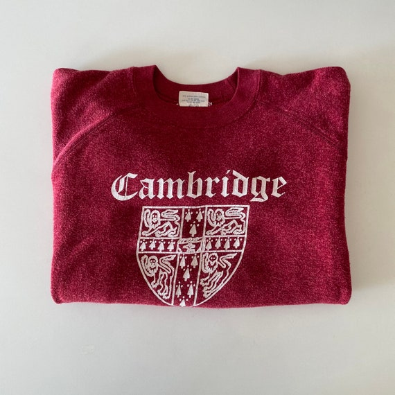 1970s Cambridge University Collegiate Sweatshirt