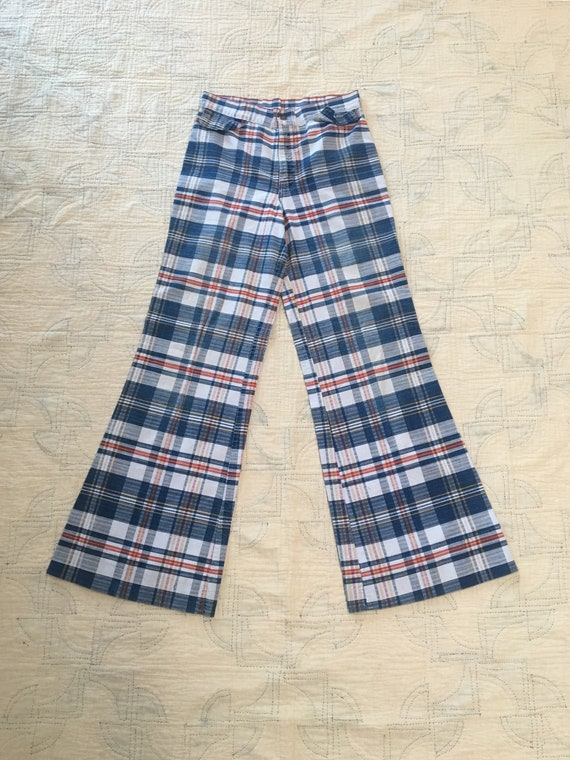 1970s Women's Plaid Bell Bottoms