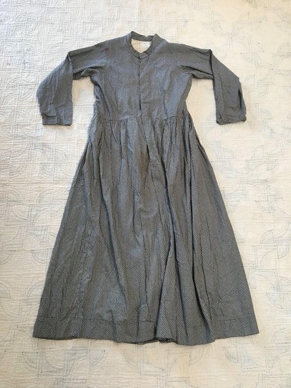 1900s Calico Farm Dress