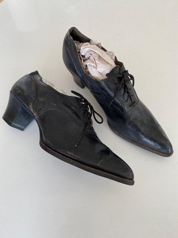 1940s Hamilton Brown Leather Heels