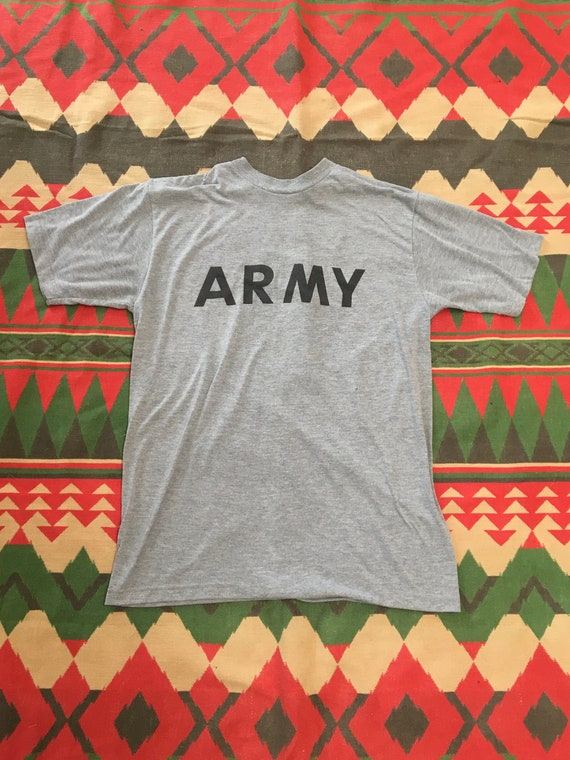 1980s US Army Issued Fitness Uniform Tee