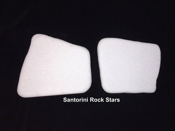 Stone for painting Sparkle White Hexagon 8 pieces white FREE SHIPPING Santorini Style Thassos Sparkles Rocks flat and full of sparkle