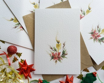 """Christmas Cards - Set of 6 """"Christmas Candle"""" Cards, Minimalist Cards, Originally Hand painted Cards, Holiday Greeting Cards"""