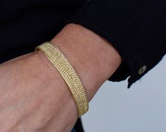 "Bracelet ""Hoshi"" Star, Japanese Vintage Obijime Accessory, Wabi Sabi Silk Bangle, Present, Kumihimo Bracelet hand braided Obijime,"