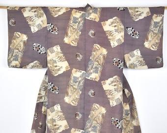 Antique Kimono /  Interior Decoration / Samurai Coat  / sustainable  / Present for him