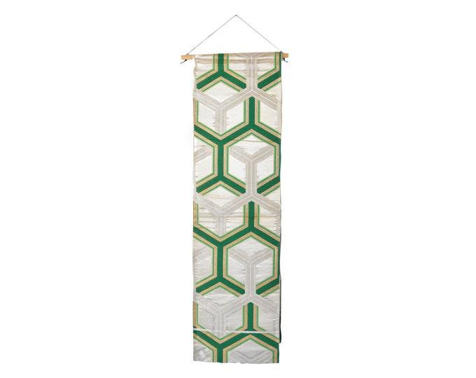 Japanese Obi Belt, Wall decoration, Vintage Kimono Belt silk, Japanese interior decoration, KimonoMädchen