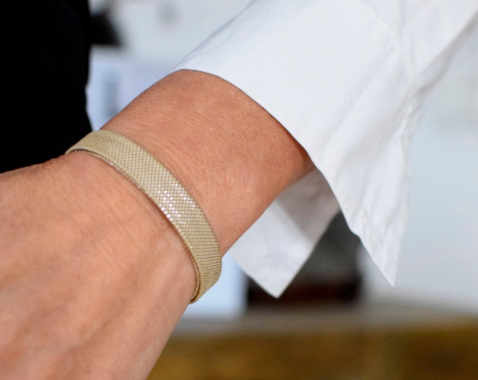 "Bracelet ""Ginza"" Japanese Vintage Obijime Accessory, Wabi Sabi Silk Bangle, Friendship Bracelet, Japanese Silk Obijime bracelet, Present,"