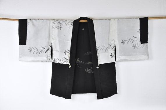 Cleaned Original Japanese Vintage Haori/ black sho